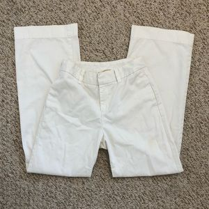Gap Khakis White Wide-Leg High-Waisted Pants